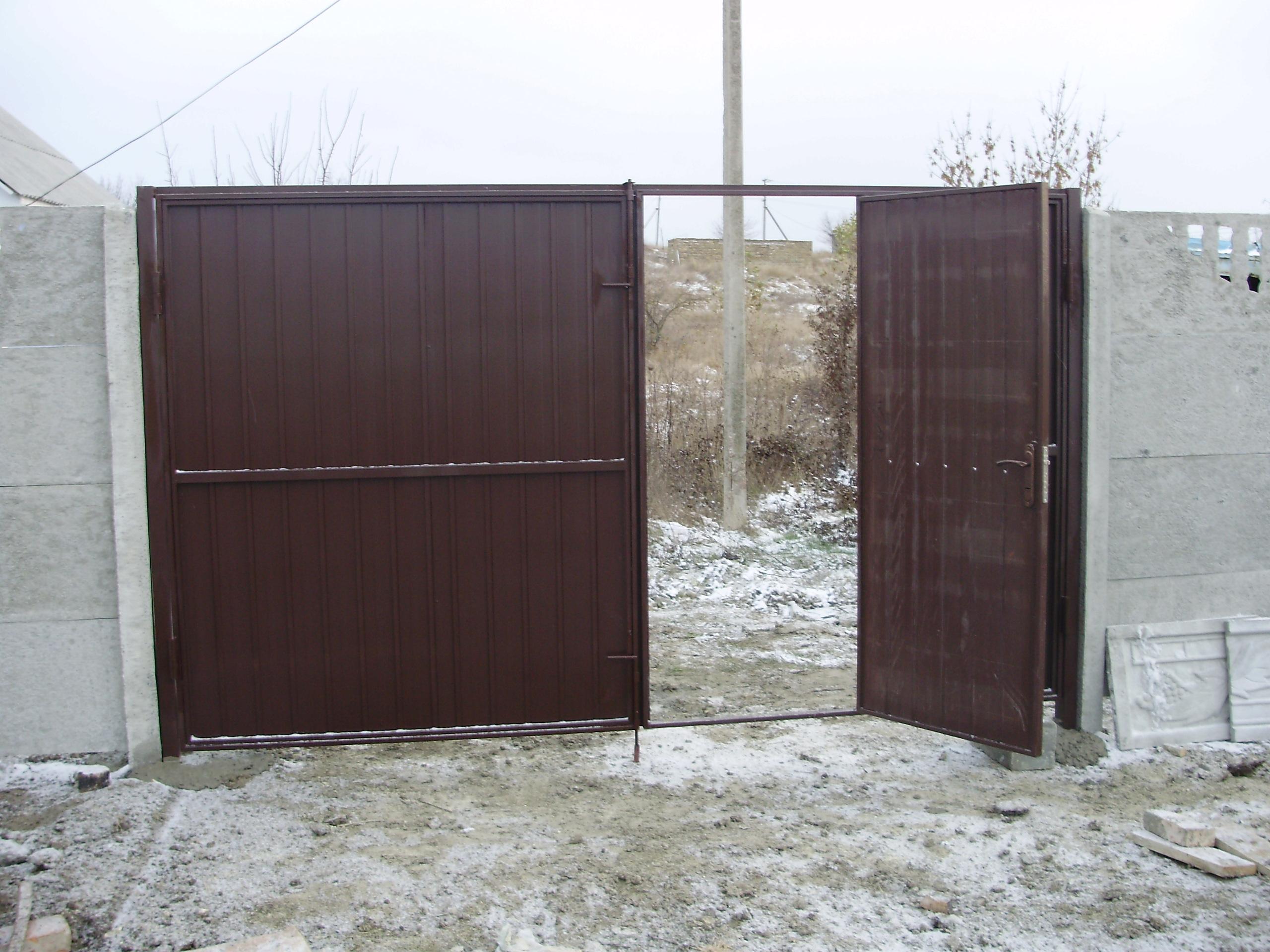 Ворота на дачу фото тольятти бетонирование откатных ворот